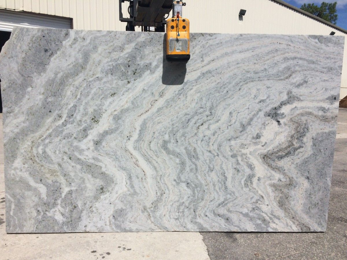 Oceanfantasy Granite Is A Beatuitful Slab With Gray Background And