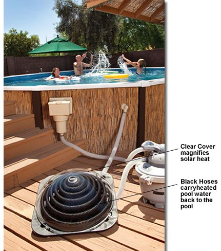 Solar Power Heater Above Ground Swimming Pool Panel Outdoor Kit Backyard  Tool