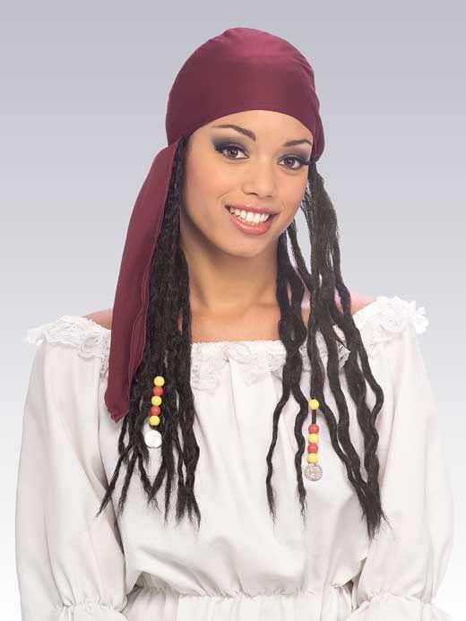 Bandeau de Pirate avec Tresses Vêtements pirates