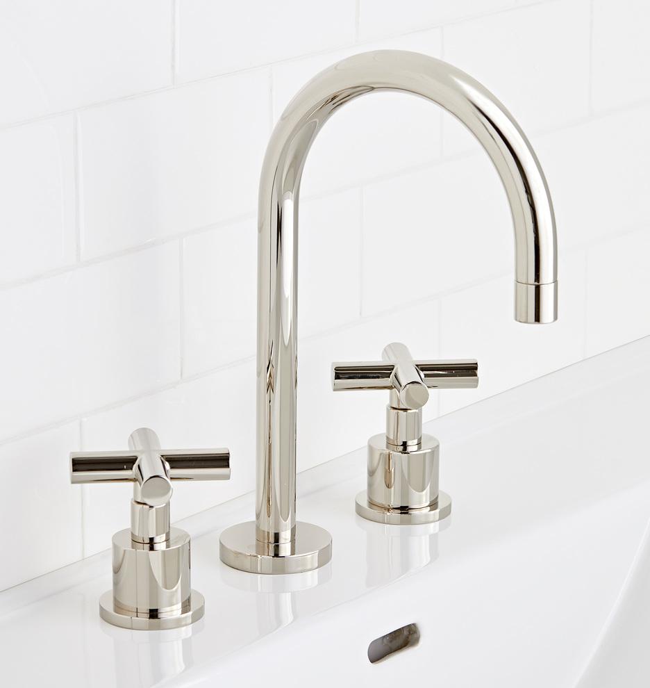 Waterhouse Faucet Rejuvenation Faucet Modern Bathroom Faucets Widespread Bathroom Faucet [ 990 x 936 Pixel ]