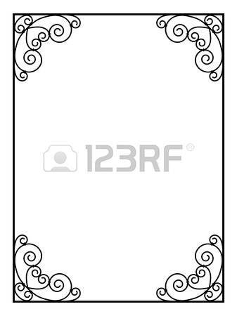 cadre noir ornement d coratif cadre noir bordure cadre d corative pinterest cadres. Black Bedroom Furniture Sets. Home Design Ideas