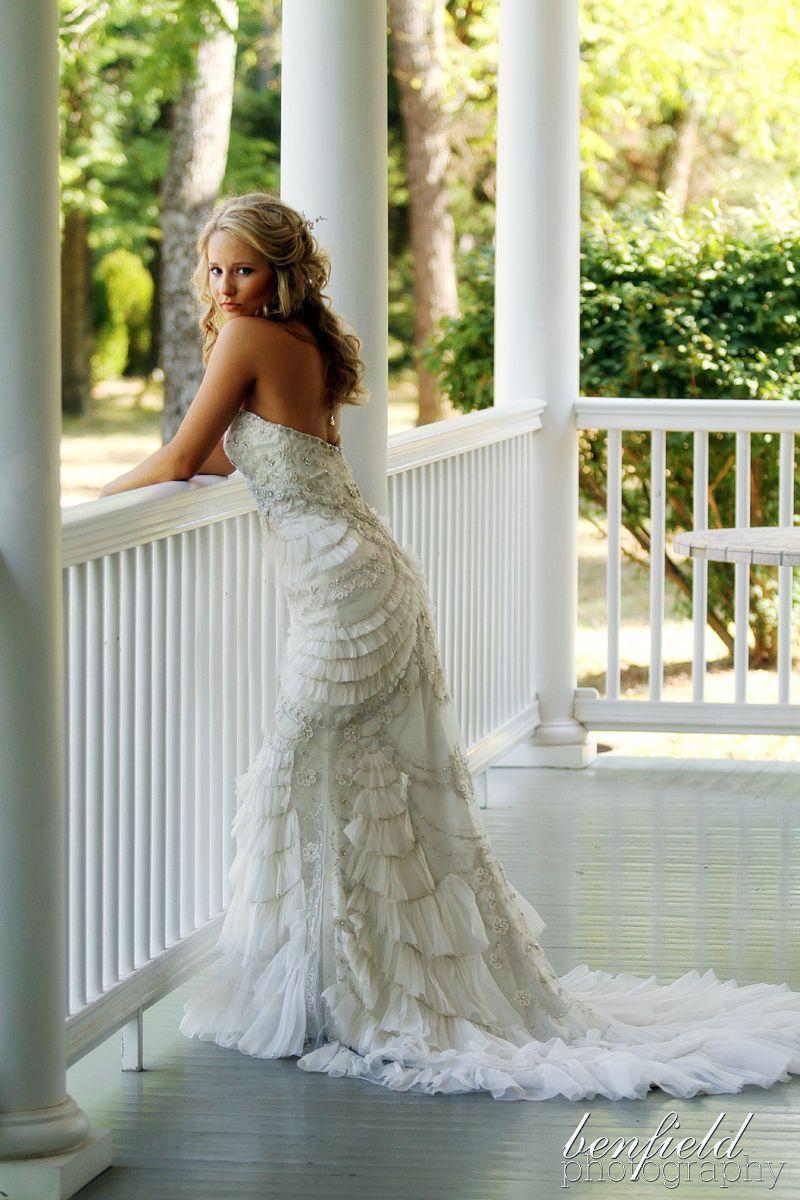 Elegant, detailed wedding dress
