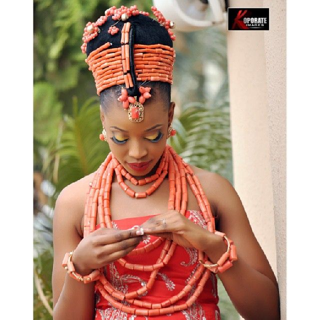 Hairstyle For Traditional Wedding: On The Nigerian Woman And Her Red Coral Beads