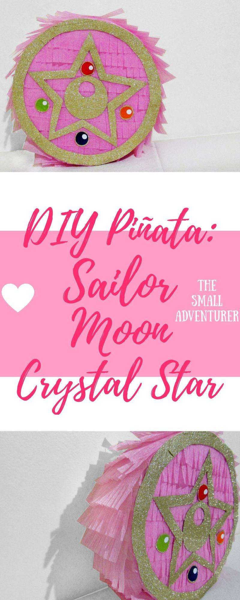 Crescent moon pinata with crystal