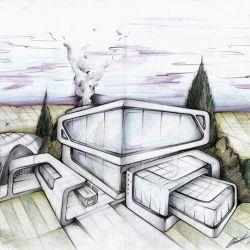 magnificent architectural sketchescláudio cigarro   maquetas