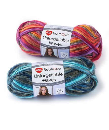 Red Heart Unforgettable Waves yarn -- The Unforgettable family has a ...