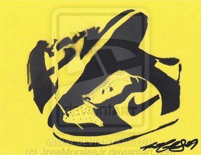 Nike Dunks Stencil by JoseMoralesJr deviantart com