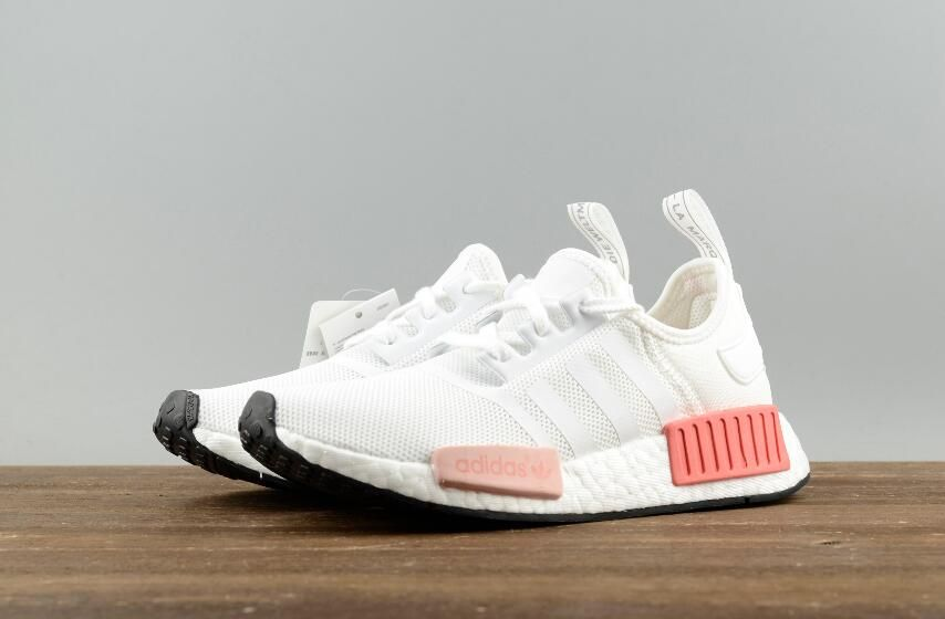 b3573991d4e6e Adidas Original NMD R1 W BY9952 White Pink Real Boost Lady Sneakers Free  DHL Shipping for Online Sale 07