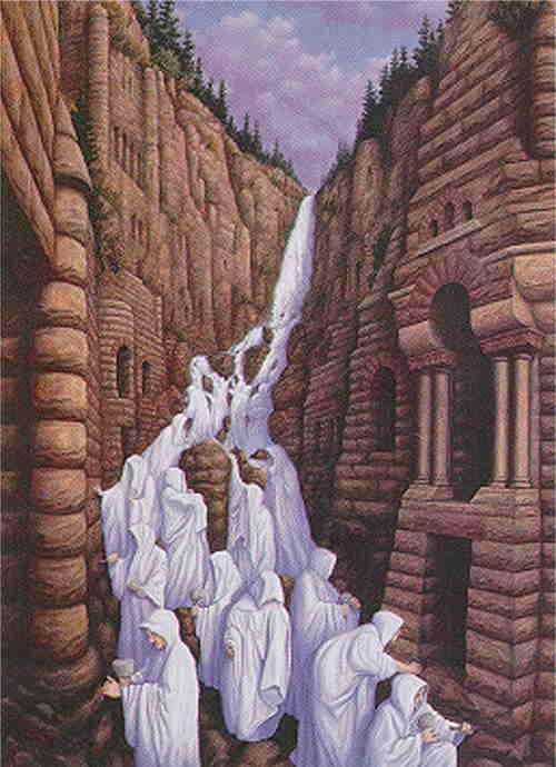 Waterfalls 2 By Rob Gonsalves Optical Illusion Paintings