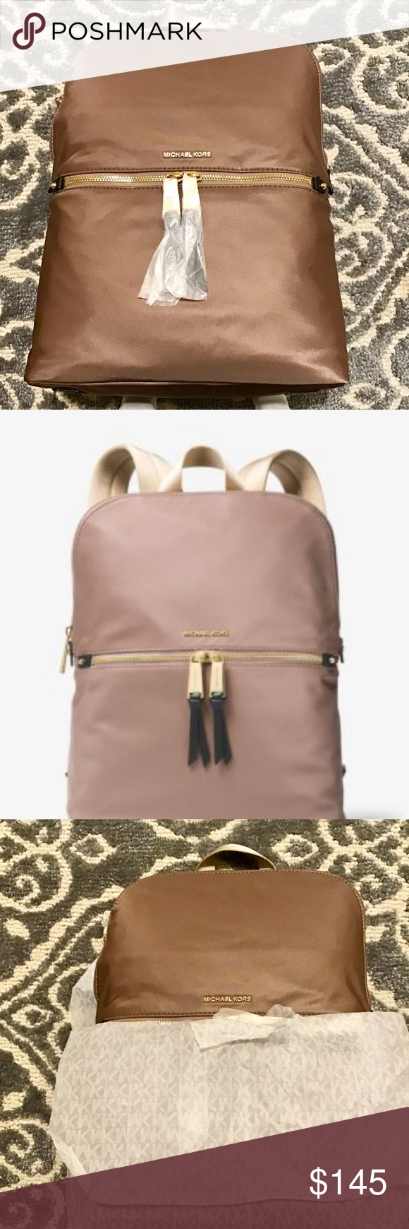 8ea1d3b52029 SOLD OUT Michael Kors Polly Nylon Backpack Polly Medium Nylon Backpack  Store Style # 30T8GP5B2C COLOR