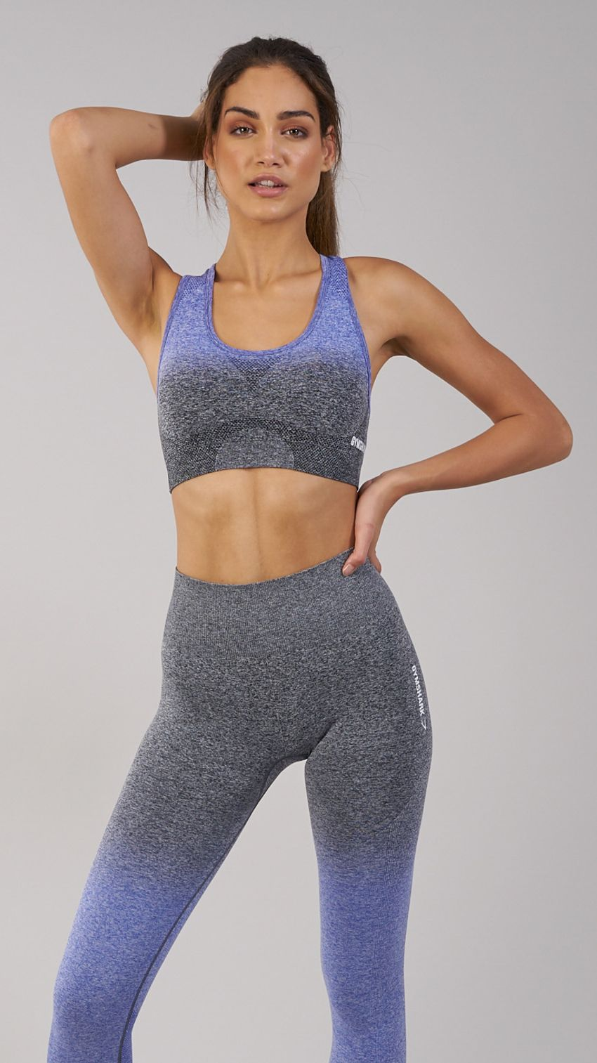 c0f944b636ff0 Gymshark Ombre Seamless Sports Bra - Indigo Black in 2019