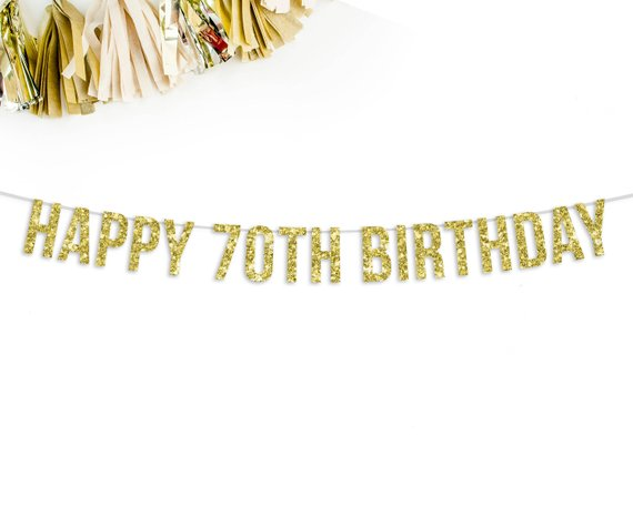 Happy 70th Birthday Banner