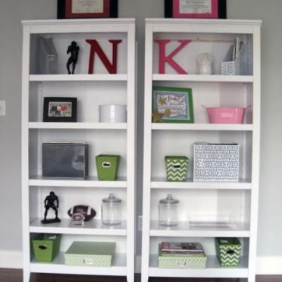 His Hers Office Bookshelf Decor Home Office Kayray 39 S House Pinterest Office