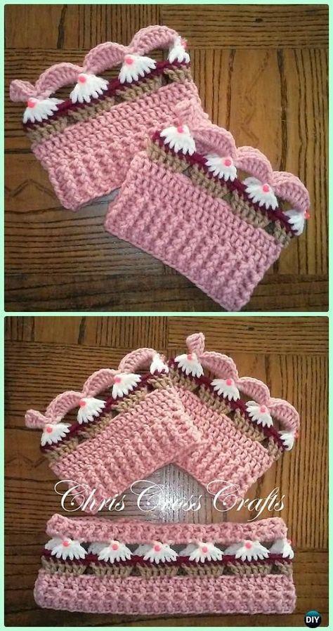 Crochet Cupcake Stitch Free Patterns #bootcuffs