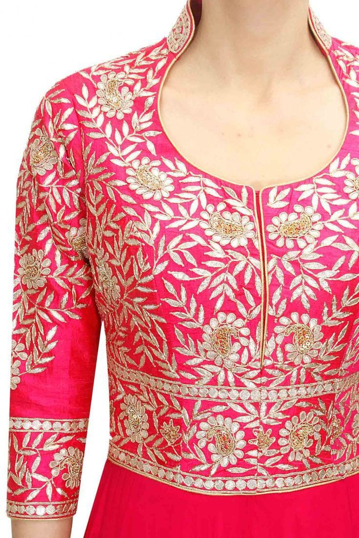 Awesome  Women Shadi Dresses Have A Beautiful Churidar Neck Designs And V Neck