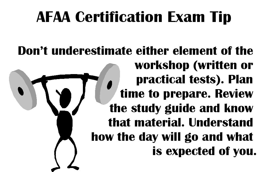 Afaa Certification Exam Tip Dont Underestimate Either Element Of