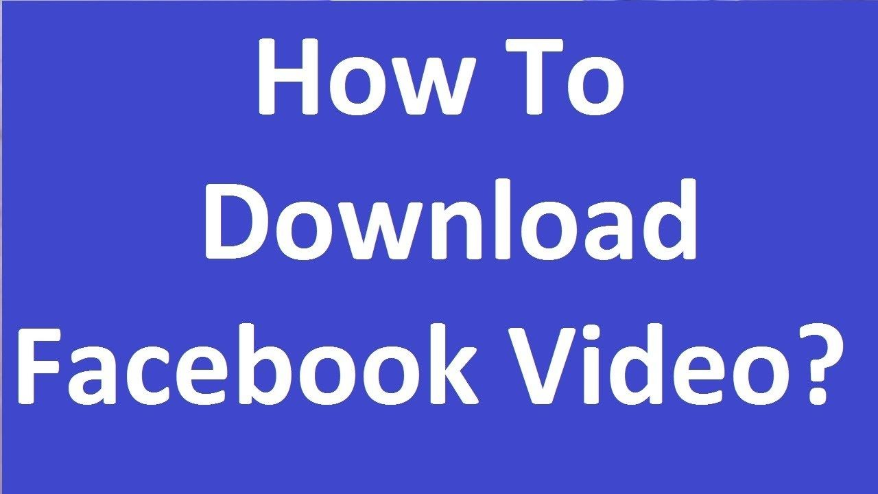 facebook video downloader free download online