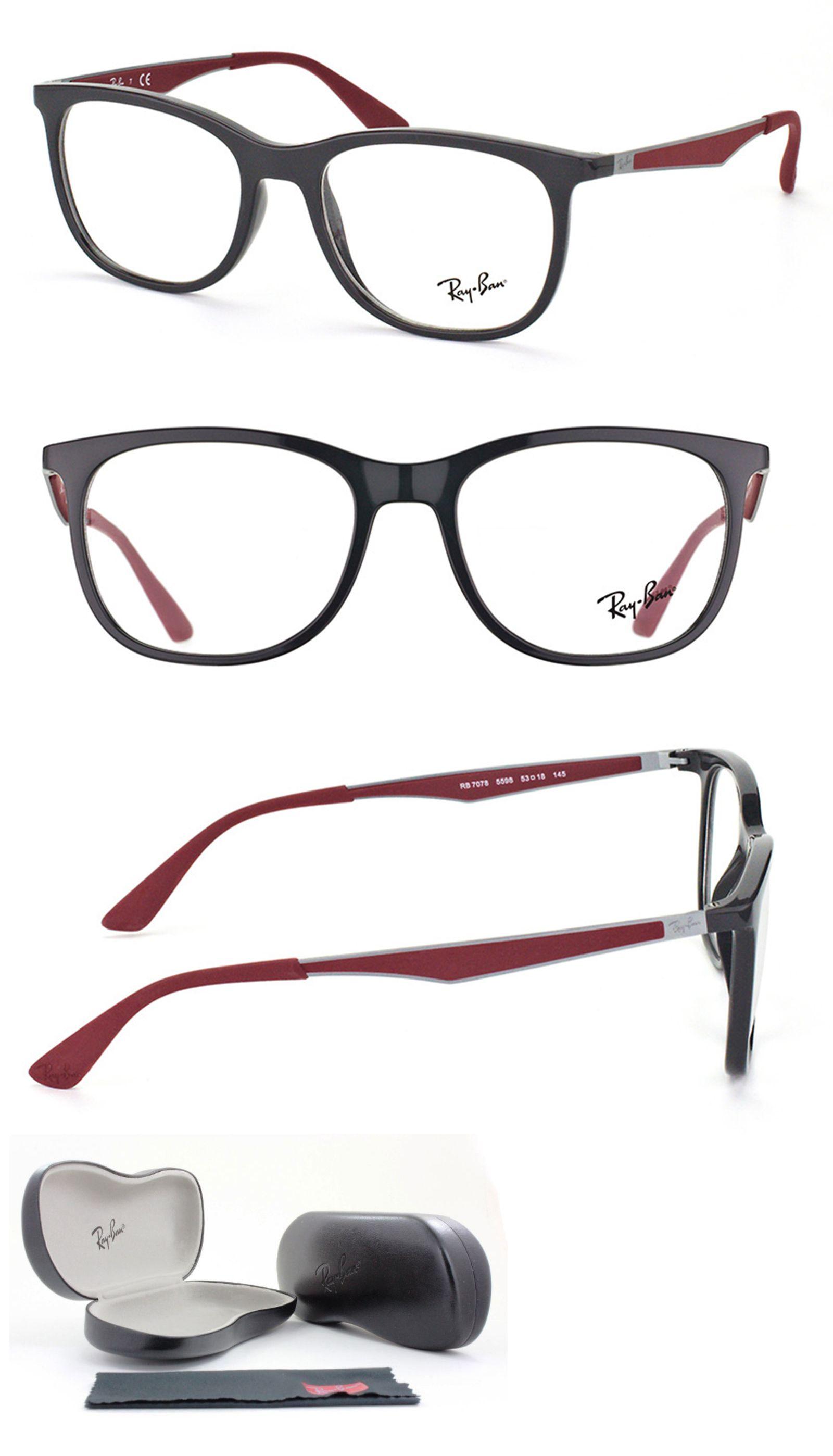 30dea46c7d Eyeglass Frames  New Authentic Ray- Ban Eyeglasses Rb7078 5598 Grey  Gunmetal Bordeaux 53-