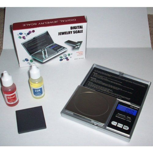 Silver \ Gold Testing Kit 2 Test Acid Bottles + 100G Lab Scale - best of cole parmer temperature probe