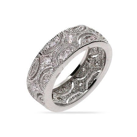 Julie\'s Victorian Style Wedding Band Size 8 (Sizes 5 6 7 8 9 10 ...