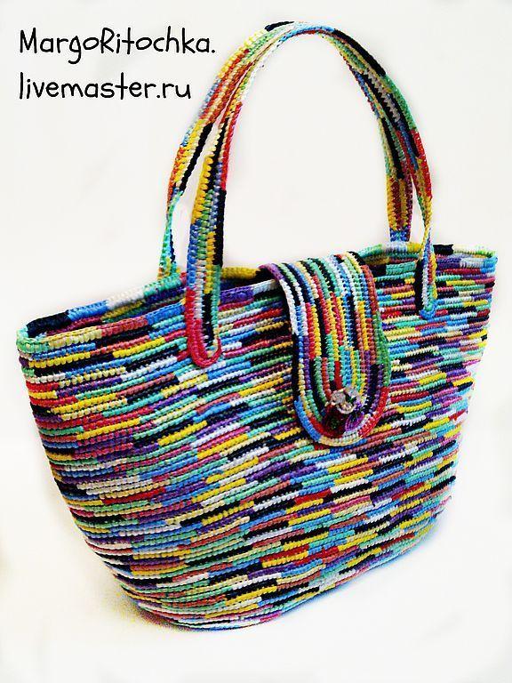 купить сумка радужное лето женская вязаная сумка авторская