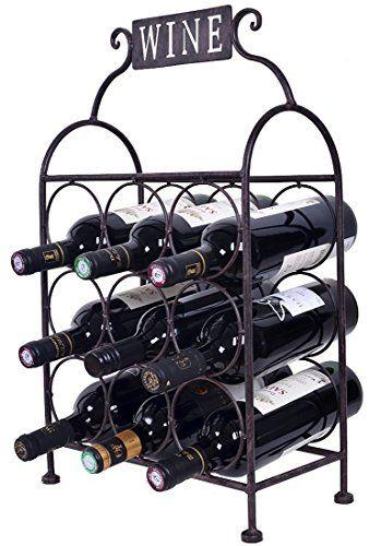 Wine Racks Welland Metal Wine Rack With The Word Wine 9 Wine