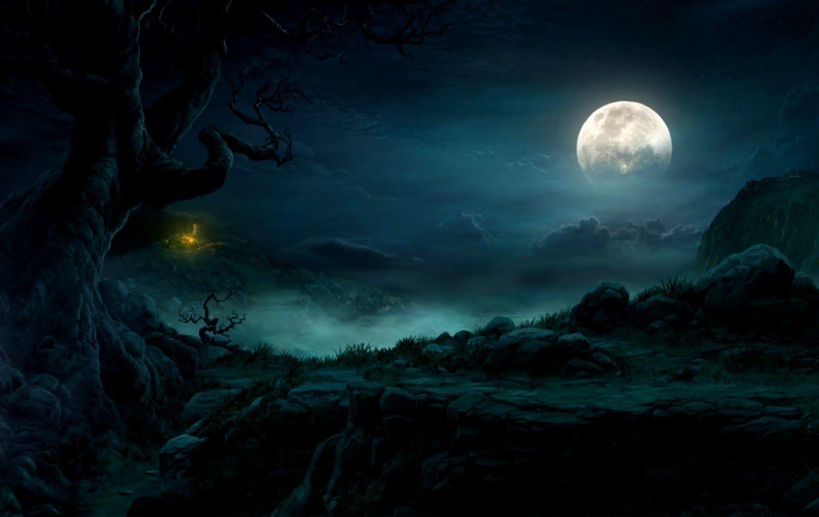 Full Moon Night Landscapes