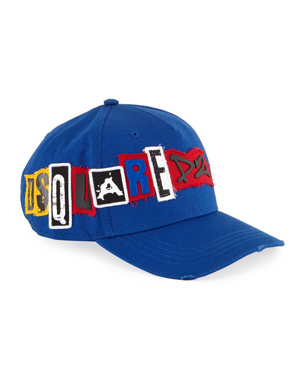 DSQUARED2 MEN S GABARDINE BASEBALL CAP.  dsquared2  dd3c93ceb580