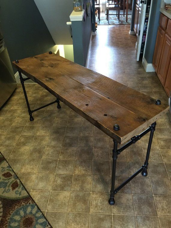 Reclaimed Barn Wood Xl Sofa Table Table De Canape Table A
