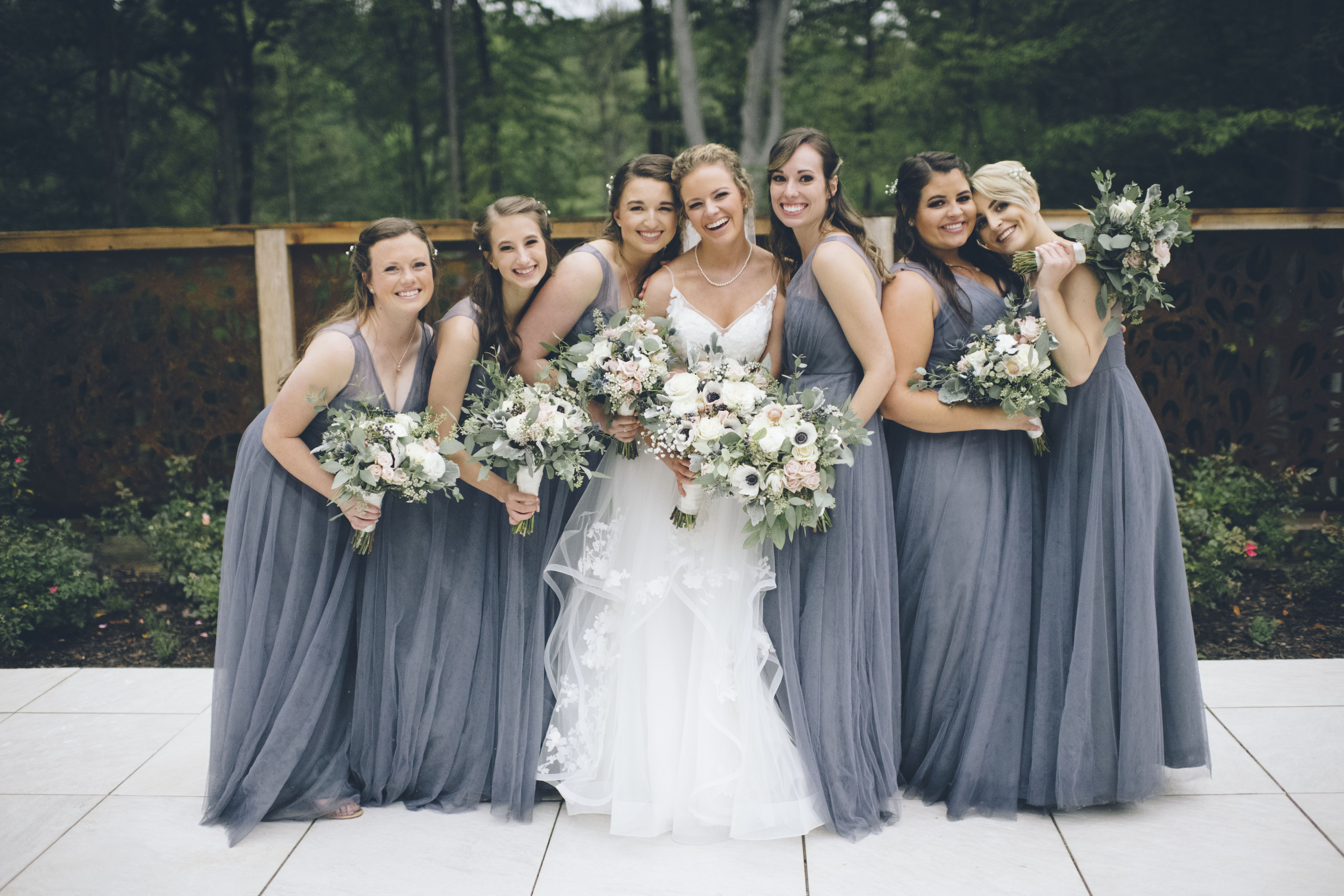 7c14d3b5f6 Jenny selected the Jenny Yoo Emelie dress in Hydrangea for her bridesmaids!  Photographer  Mindy Sue Photography- Mindy Lamprecht at  mindysue000 gmail.com ...