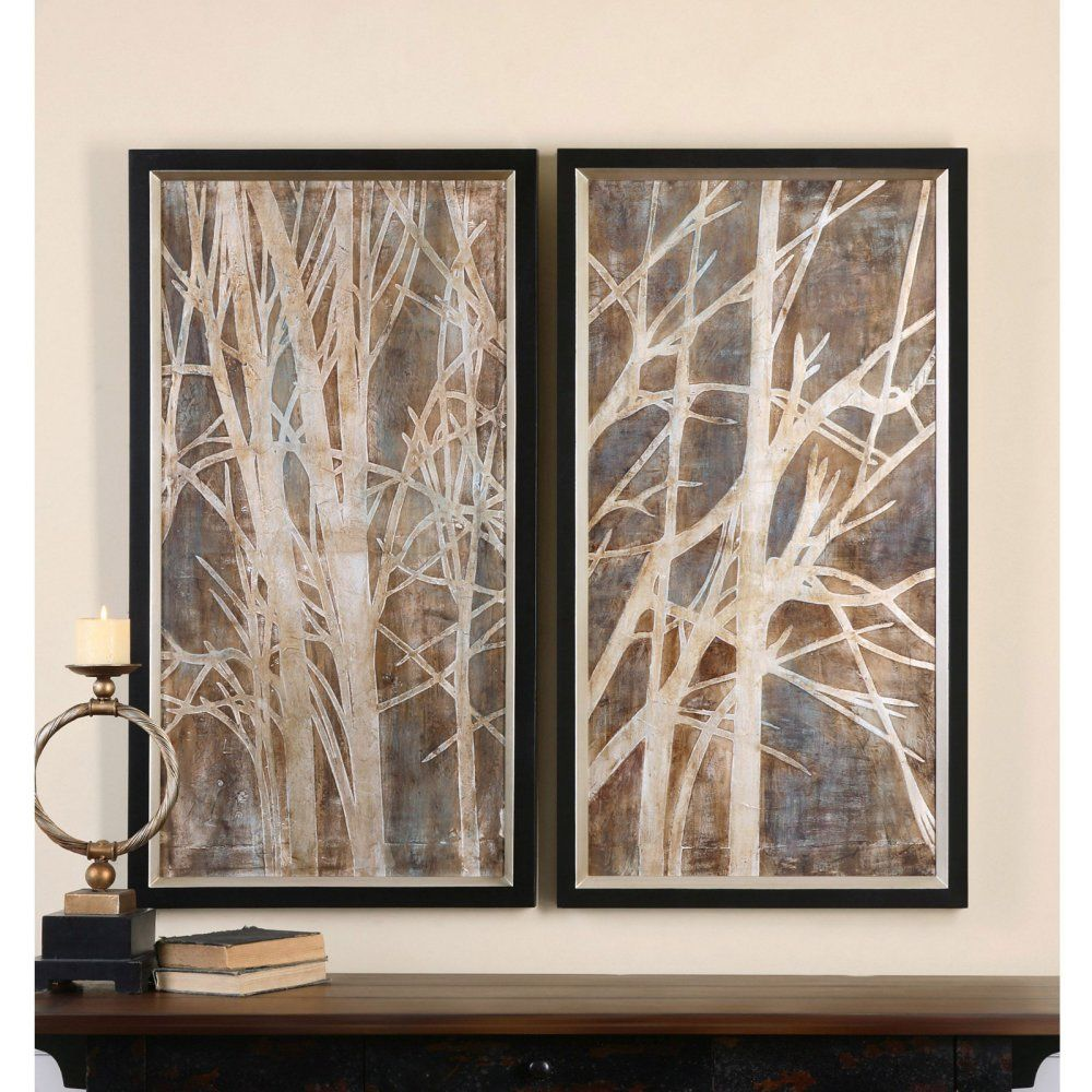 Uttermost twigs hand painted art set of wall art at hayneedle
