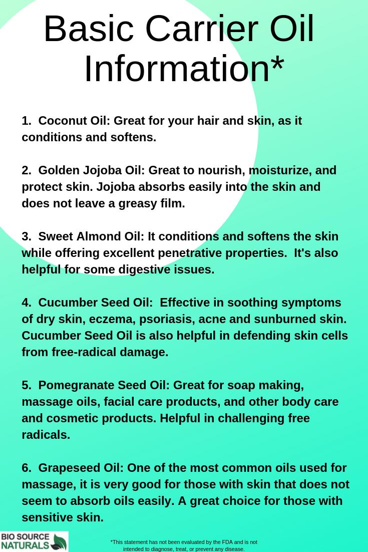 Carrier Oils To Dilute Essential Oils Bio Source Naturals Diluting Essential Oils Essential Oil Carrier Oils Essential Oils Aromatherapy