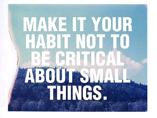 """So true. I have decided to not sweat the small stuff, to say """"yes"""" when I can, and not be angry about little things."""