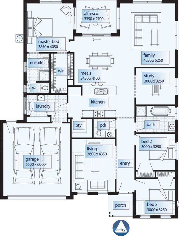 Floor Plans Single Storey House Plans Home Designs Custom Home Bedroom Single Story House Plans Bedroom Story House Plans Design Maison Plans