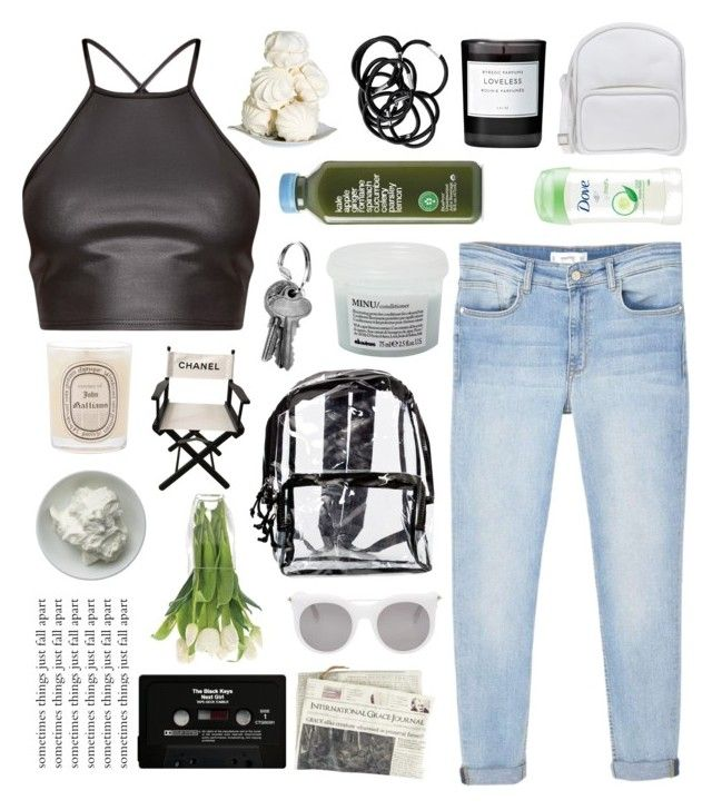 """""""I'm a Fly Trapped In A Web, But I'm Thinking That My Spider's Dead"""" by sugarplumfairy98 ❤ liked on Polyvore featuring MANGO, Diptyque, Chanel, Jil Sander Navy, Alexander McQueen, Byredo, H&M, CASSETTE, Thomasville and Dove"""