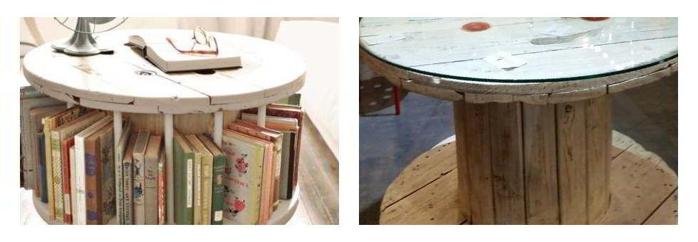 IDEAS DE MUEBLES RECICLADOS Bobinas de cable muebles reciclados - muebles reciclados