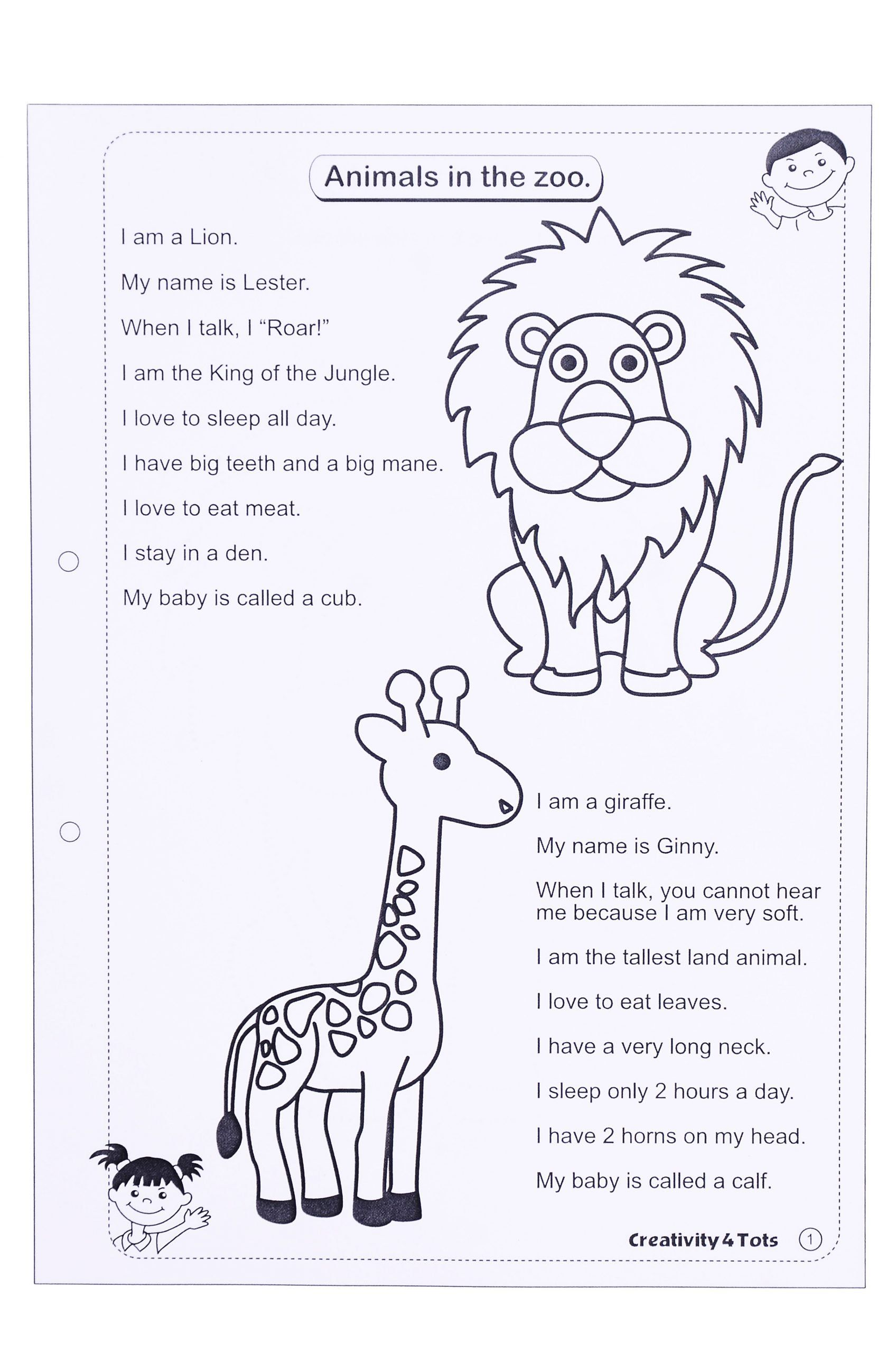 Zoo Animal Worksheets For Preschoolers Pin By Sheryl