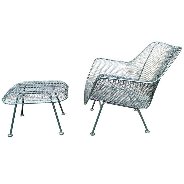 Sculptura Outdoor Lounge Chair Ottoman By Russell Woodard