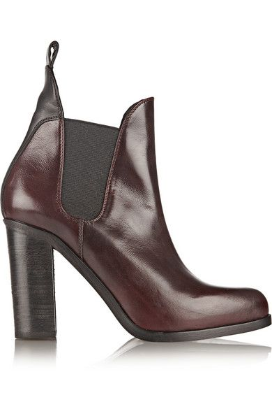 New Concept Rag Bone Ankle Boots Burgundy Stanton Polished leather