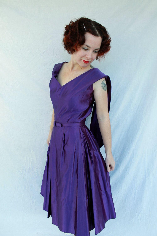 Reserved For Pam 1950s 1960s Jo Copeland Deep Royal Purple Etsy Satin Cocktail Dress Nice Dresses Purple Satin [ 1500 x 1000 Pixel ]