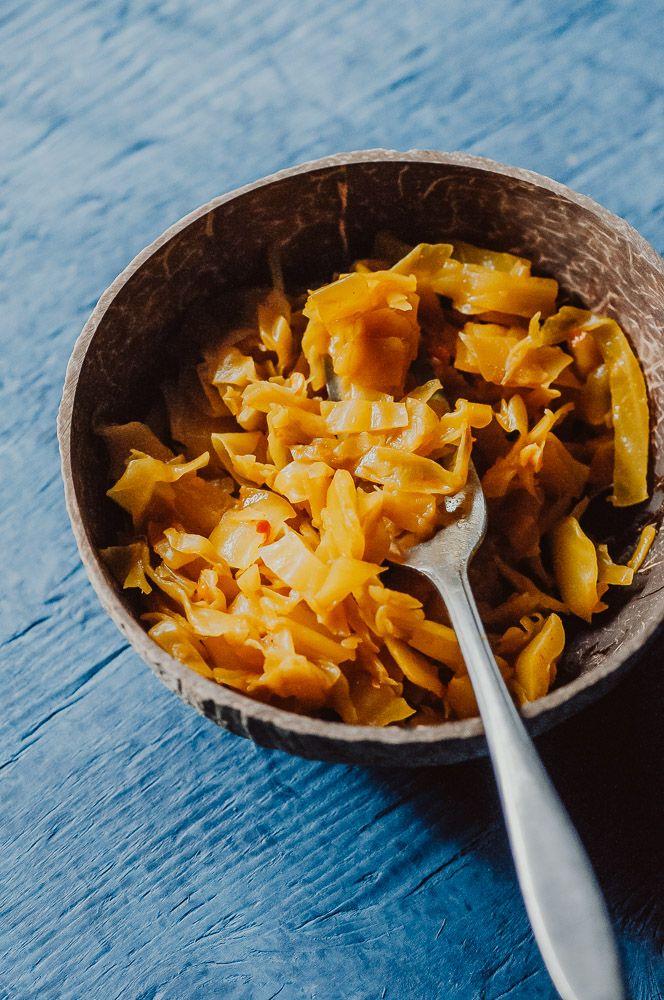 Spicy Golden Sauerkraut Vegan Gluten Free