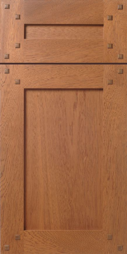 Craftsman Shaker Style Mahogany Cabinet Doors With Walnut Pegs