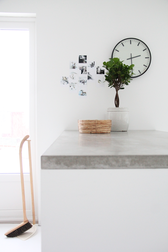 Concrete Benchtop And White Carcass Kitchen Dining Room Pinterest Countertops Work
