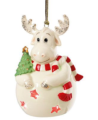 Lenox Christmas Ornament, Color Changing Moose - Christmas Ornaments - moose christmas decorations