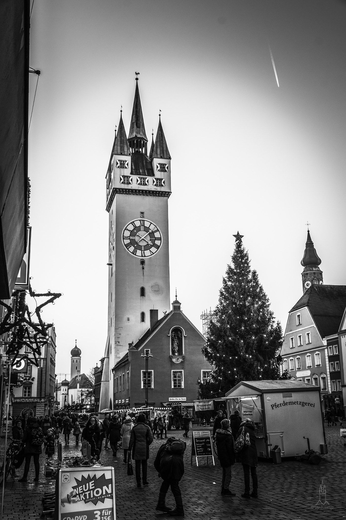 Weihnachtsgewusel Der Straubinger Ludwigsplatz In Der Vorweihnachtszeit The Straubinger Ludwigsplatz In The Pre Christmas Period Vorweihnachtszeit