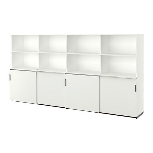 Ikea Galant Opberger Met Schuifdeuren Wit Kantoor