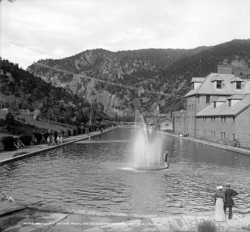 Bathing In The Pool At Glenwood Springs :: History