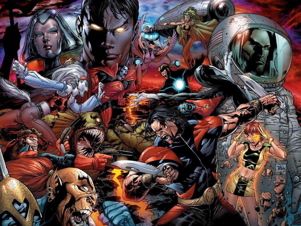 X Men Starjammers By Billy Tan Cartoon Artwork Comic Book Wallpaper