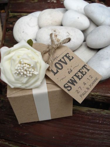 16 Personalised Vintage Shabby Chic Wedding Favour Candy Buffet Tags Ebay