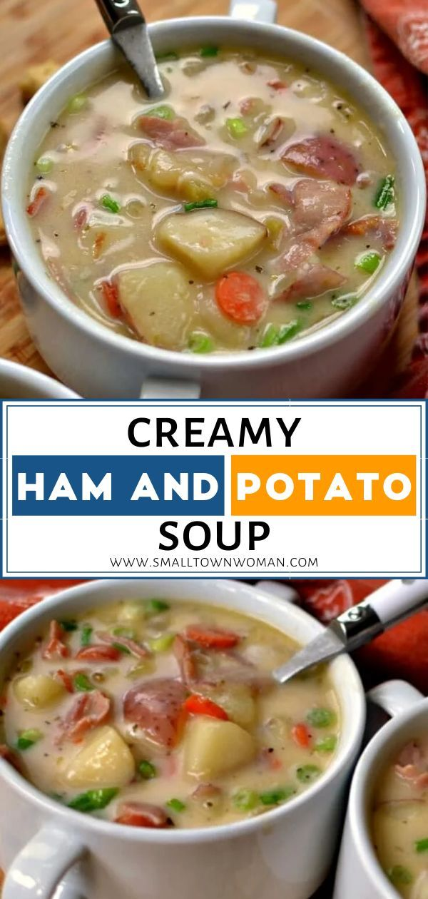 CREAMY HAM AND POTATO SOUP #easycomfortfood